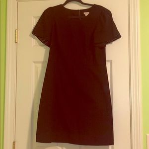 Jcrew black eyelet dress